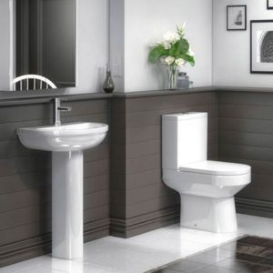 Metro Close Coupled Modern Toilet + Soft Close Seat
