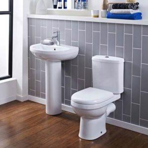 Sofia Modern Close Coupled Toilet + Soft-Close Seat