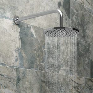 Fixed Round Shower Head + Wall Mounted Arm