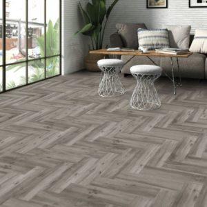 Ribera Grey Wood Effect Porcelain Tile